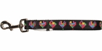 Tetris Block Hearts Pet Leash