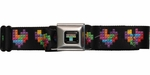 Tetris Block Hearts Seatbelt Mesh Belt