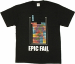 Tetris Epic Fail T Shirt