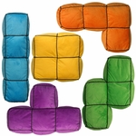 Tetris Pieces Five Piece Pillow Set