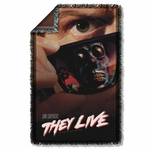 They Live Poster Throw Blanket