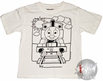 Thomas the Tank Coloring Shirt Juvenile T-Shirt