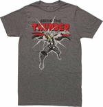 Thor Bring Thunder T Shirt Sheer