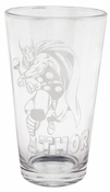 Thor Etched Pint Glass
