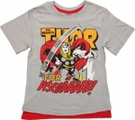 Thor For Asgard Caped Juvenile T Shirt