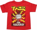 Thor For Asgard Juvenile T Shirt
