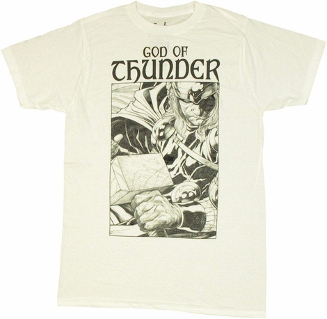 Thor God of Thunder T Shirt Sheer