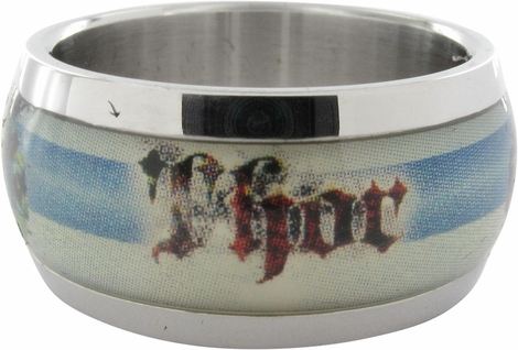 Thor Name Bust Striped Ring
