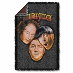 Three Stooges All Over Throw Blanket
