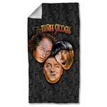 Three Stooges All Over Towel