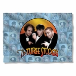 Three Stooges Portraits Pillow Case