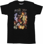 Thundercats Group Painting T Shirt Sheer