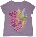 Tinkerbell Feel the Magic Girls T-Shirt