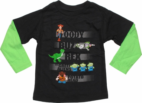 Toy Story Characters and Names LS Toddler T-Shirt