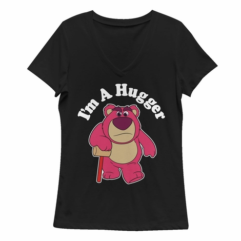 Toy Story Lotso Hugger V Neck Juniors T-Shirt