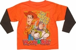 Toy Story Orange Rescue Team Brown Long Sleeve Juvenile T Shirt