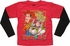 Toy Story Red Rescue Team Black Long Sleeve Juvenile T Shirt