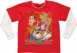 Toy Story Red Rescue Team White Long Sleeve Juvenile T Shirt