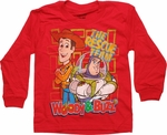 Toy Story Rescue Team Red Long Sleeve Juvenile T Shirt