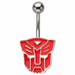 Transformers Autobot Die Cut Belly Ring