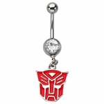 Transformers Autobot Gem Dangle Belly Ring