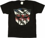Transformers Autobot Logo Color T Shirt Sheer