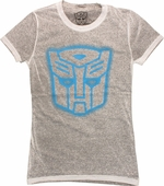 Transformers Autobot Stencil Distressed Baby Tee