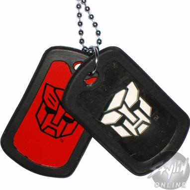 Transformers Autobot Stencil Dog Tags