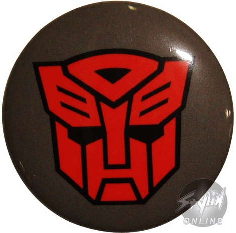 Transformers Autobot Symbol Button