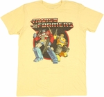 Transformers Classic Duo T Shirt Sheer
