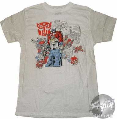 Transformers Collage T-Shirt Sheer