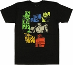 Transformers Color Bot Panels T Shirt Sheer