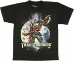 Transformers Dark Moon Optimus Youth T Shirt