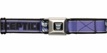 Transformers Decept Name Logo Purple Seatbelt Belt
