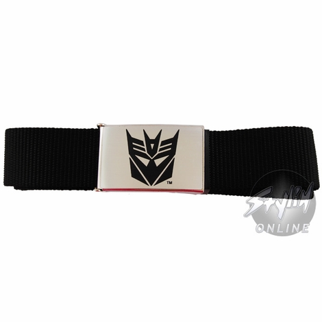 Transformers Decepticon Black Symbol Belt
