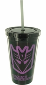 Transformers Decepticon Black Travel Cup
