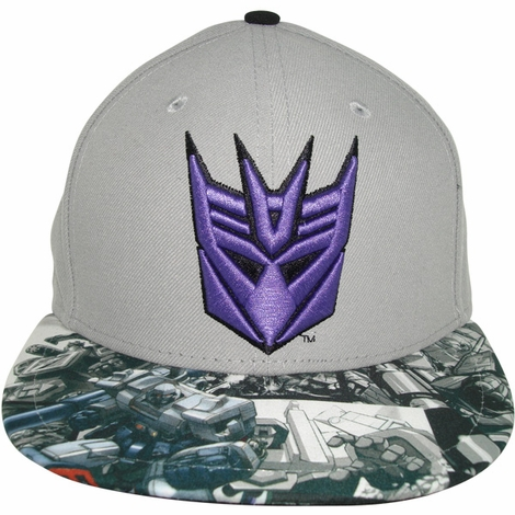 Transformers Decepticon Comic Visor 59Fifty Hat