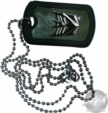 Transformers Decepticon Dog Tag
