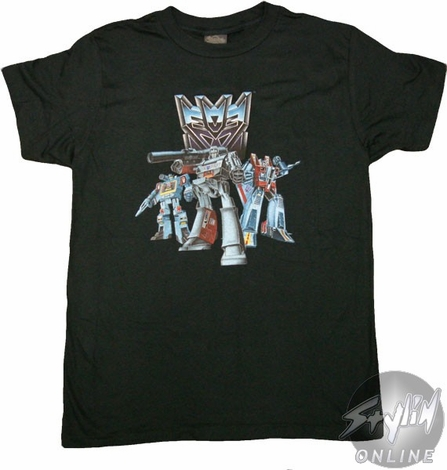 Transformers Decepticon Group T-Shirt Sheer