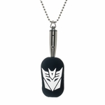 Transformers Decepticon LED Light Up Dog Tag
