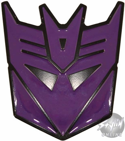 Transformers Decepticon Purple Buckle