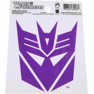 Transformers Decepticon Purple Decal