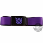 Transformers Decepticon Purple Mesh Belt