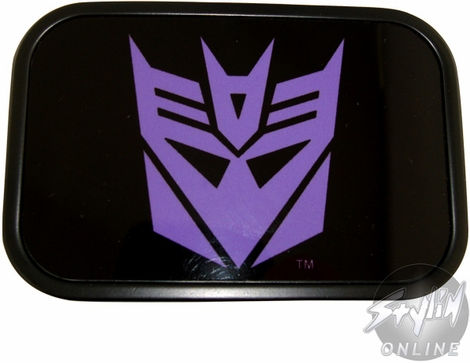 Transformers Decepticon Rectangle Purple Buckle