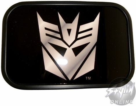 Transformers Decepticon Rectangle Silver Buckle