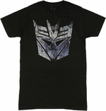 Transformers Decepticon Scratch Logo T Shirt Sheer