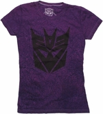 Transformers Decepticon Stencil Distressed Baby Tee