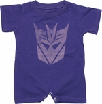 Transformers Decepticon Vintage Romper Snap Suit
