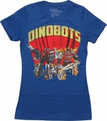 Transformers Dinobots Royal Blue Juniors T-Shirt