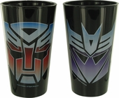 Transformers Each Logo Pint Glass Set